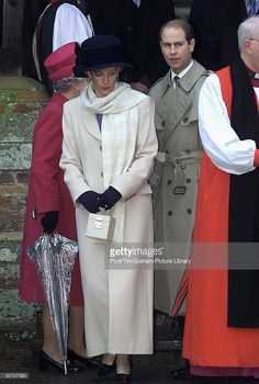 The Earl And Countess Of Wessex [ Prince Edward And Sophie ] Attending Church On Christmas Eve At Sandringham In Norfolk.