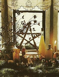 Autumn home | Interior Design for Witches | Pagan Alter | Pentagram | DIY | Witchcraft | Wicca | Paganism