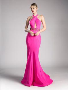 ecf8508e3d6 Halter Mermaid Dress with Beaded Waist by Cinderella Divine 11978. Mermaid  Skirt