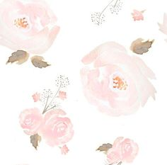 Pink Watercolor Floral Fabric - Indy Bloom Blush Rose B By Indybloomdesign - Girl Nursery Decor Cotton Fabric By The Yard With Spoonflower Watercolor Fabric, Floral Watercolor, Watercolor Paintings, Peony Painting, Watercolour Flowers, Girl Cribs, Soft Baby Blankets, Floral Nursery, Blush Roses