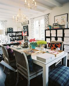 The offices of Burnham Designs |10 Home Office Ideas You've Got to See | Decorating Files