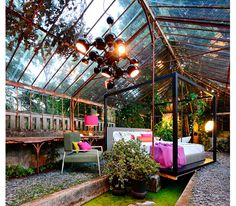 a greenhouse bedroom would be like sleeping outdoors but with the comforts of home