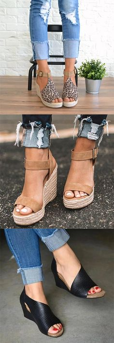 Women Spring/Summer Sandals First Order Shop Now! Cute Shoes, Me Too Shoes, Fashion Shoes, Fashion Outfits, Womens Fashion, Cool Outfits, Casual Outfits, Stitch Fix Outfits, Spring Outfits