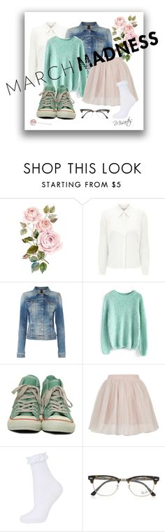 """Roses and Lollipops"" by misartes ❤ liked on Polyvore featuring Eastex, Calvin Klein, Chicwish, Converse, Topshop, Ray-Ban and hightops"