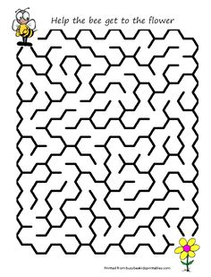 Bee Activities, Preschool Worksheets, Craft Activities For Kids, Crafts For Kids, Coloring For Kids, Coloring Pages, Teaching Kids, Kids Learning, Printable Mazes