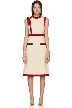Gucci - Beige Sleeveless A-Line Dress