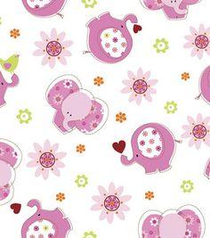 Nursery Fabric-3-D Elephants Toss Flannel : nursery fabric : fabric :  Shop | Joann.com (I am so torn over baby stuff)