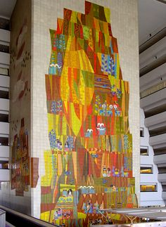 another view of the mural at the Contemporary Hotel (in Disneyworld) by Mary Blair