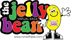 The Jelly Bean is BACK!  Free virtual race :)