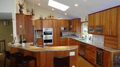 vaulted kitchen more photos contemporary kitchens seattle vaulted