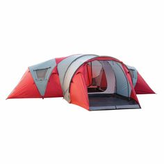 9005c5b31d Buy Retreat 360 8 Person Tent v2 - Red Grey online at Kathmandu 8 Person
