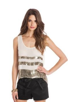 Blake Sequin Tank at Guess Guess By Marciano, Sexy Dresses, Basic Tank Top, Lifestyle, Denim, Tank Tops, Kids, Women, Fashion