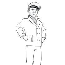 Sailor John Coloring Page Thomasandfriends Coloringpages