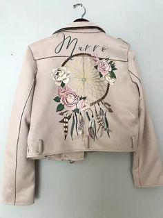 Painted Jackets, Bomber Jacket, Bride, Sweatshirts, Sweaters, Wedding Ideas, Fashion, Painted Clothes, Jackets