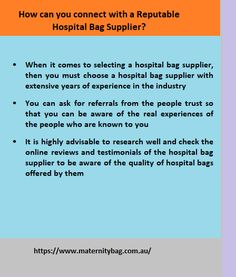 When you are planning to purchase delivery bags online, then you must research and search for a reputable hospital bag supplier that sells labour bags online Labor Bag, Maternity Sleepwear, Delivery Bag, Hospital Bag, Online Bags, You Must, Things To Come, How To Plan, Search
