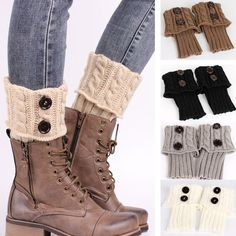 Knitted Woollen Socks Short Button Cuffs Boot Toppers Leg Warmers Soft Fashion - Sweater Boots - Ideas of Sweater Boots - Knitted Woollen Socks Short Button Cuffs Boot Toppers Leg Warmers Soft Fashion Price : Crochet Boot Cuffs, Crochet Boots, Crochet Buttons, Knit Boots, Sweater Boots, Knitting Socks, Boots With Leg Warmers, Knit Leg Warmers, Knit Fashion