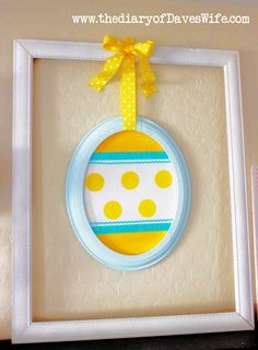 Cute Framed Easter Egg