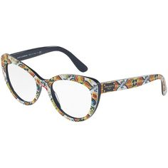 f52c4b84d40 Dolce   Gabbana Floral Majolica Cat-Eye Optical Frames (2.155 DKK) ❤ liked