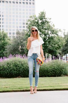 3 Ways to Wear White Summer Tops