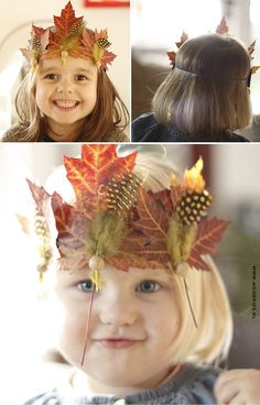 fall leave crown for kids Autumn Crafts, Fall Crafts For Kids, Nature Crafts, Diy For Kids, Diy Autumn, Leaf Crafts, Diy And Crafts, Autumn Activities, Activities For Kids