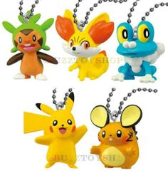 GENUINE BANDAI 2013 POKEMON X AND Y MONSTER COLLECTION FIGURE WITH BALL CHAIN