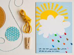 Heedopter - Greeting card - Colourful rain - Etsy