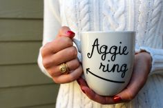 Aggie Ring Mug! Shop Confetti and Twine in Etsy today!