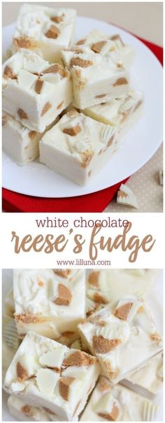Chocolate Reese's Fudge White Chocolate Reeses Fudge - so easy and delicious! You'd never guess fudge was so simple.White Chocolate Reeses Fudge - so easy and delicious! You'd never guess fudge was so simple. Best Fudge Recipe, Fudge Recipes, Candy Recipes, Cookie Recipes, Dessert Recipes, Frosting Recipes, Homemade Fudge, Homemade Candies, Homemade Marshmallows