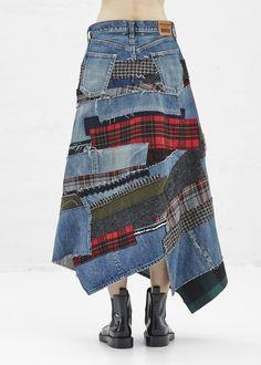 Junya Watanabe Denim Midi Skirt (Indigo)