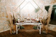 CFEC Decor: Dried Florals, Wooden Vases, Glass Jars, Wooden Table, Geometric Terratiums, Cake Stands P.C. Emily Figurelli Photography Wooden Vase, Wooden Tables, Cake Stands, Tree Lighting, Cake Table, Twinkle Lights, Glass Jars, Vases, Florals