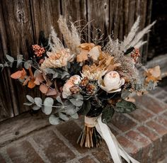Typical Cost of Wedding Flowers: Making the Most of a Floral Budget. Taking advantage of a floral budget plan . 18 Fall Wedding Decor Ideas for Your. Fall Bouquets, Fall Wedding Bouquets, Fall Wedding Flowers, Bride Bouquets, Bridal Flowers, Floral Wedding, Boho Flowers, Wedding Colors, Bohemian Wedding Flowers