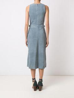 Nk Collection Vestido midi de chamois - Exclusivo Farfetch