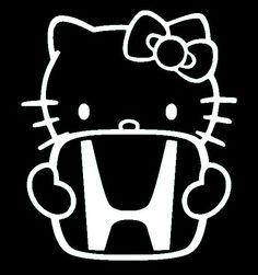 Hello Kitty Honda  Sticker Decal Vinyl for Computer by SenPro