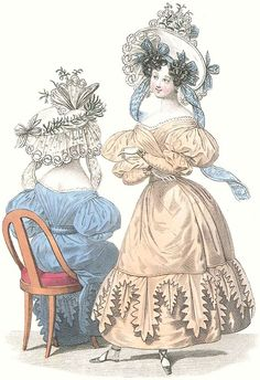 1830 Fashion Plate and tutorial 'bringing a fashion plate to life'
