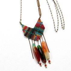 Agate Chevron Statement Necklace  by AMiRA jewelry