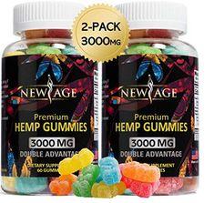 Pack) New Age Naturals Advanced Hemp Big Gummies - Natural Hemp Oil Infused Gummies Omega Oils, Colon Health, Natural Pain Relief, Turmeric Curcumin, Hemp Seeds, Gummy Bears, Hemp Oil, New Age, Stress And Anxiety