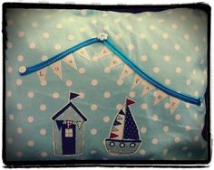 Home town seaside cushion. £17 from Betty's Buttons of Ventnor. Find me on Facebook or www.bettys-buttons.co.uk