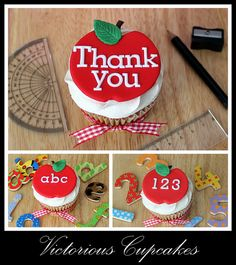 2012-07-04 Teacher's Cupcakes by Victorious Cupcakes, via Flickr
