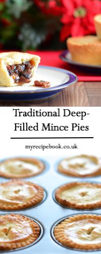 My recipe for traditional deep-filled mince pies. A delicious light almond pastry filled with homemade mincemeat – Christmas wouldn't be the same without them. Mince Pies, Mince Meat, Almond Recipes, Baking Recipes, Baking Ideas, Holiday Recipes, Christmas Recipes, Christmas Cakes, Christmas Goodies