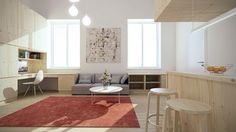 Designing For Super Small Spaces? Here are 5 examples - http://www.home-designing.com/2015/05/designing-for-super-small-spaces-5-micro-apartments