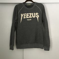 YEEZUS tour crewneck Fleece lined. Very soft. Light crew beck from the  YEEZUS tour a0e238ad572