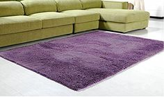 Super Soft Modern Shag Area Rugs Living Room Carpet Bedroom Rug for Children Play Solid Home Decorator Floor Rug and Carpets Deep Purple. Material: Synthetic area rugs. Size: 47.2* 63 inches (120*160 cm). Function: It can be put under computer chairs, coffee table, dining table, bedroom, study, by the bed, the hallway, floating window, hall, bedroom, etc. The real color of the item may be slightly different from the pictures shown on website caused by many factors such as brightness of…