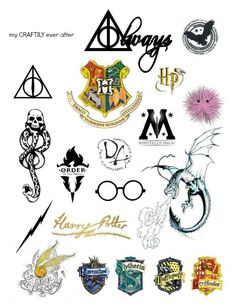 DIY Harry Potter Temporary Tattoos