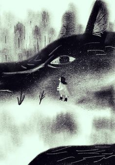 Little Red Riding Hood and Other Wolfish Things: Sang Miao II Art And Illustration, Black And White Illustration, Graphic Design Illustration, Food Illustrations, Angst Im Dunkeln, Charles Perrault, Psychedelic Drawings, Art Manga, Red Images