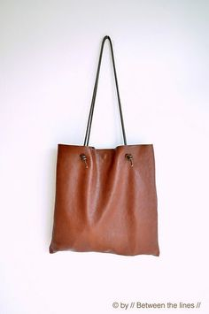 Simple Leather Bag tutorial from Between The Lines