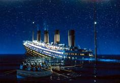 Apr. 14, 1912. The supposedly unsinkable RMS Titantic runs into an iceberg in the North Atlantic and begins to sink.