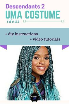 From the wig to the frilly skirt. An easy way to do an Uma costume from Descendants 2 . Instructions and ideas to make it yourself.