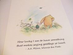 How Lucky I Am - Winnie the Pooh Quote - Classic Pooh and Piglet Nursery Print. $6.00, via Etsy.