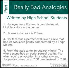 worst student essay analogies