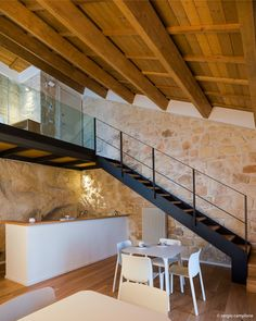 Architecture – Enjoy the Great Outdoors! Loft House, House Stairs, French Interior, Modern Interior Design, Casa Petra, Pole Barn House Plans, Interior Stairs, Log Homes, House Design